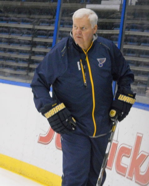 Blues coach Ken Hitchcock is probably mad. - WIKIMEDIA COMMONS