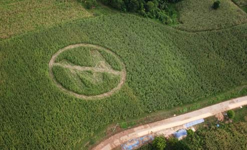 A farmer expresses his distaste toward Monsanto.