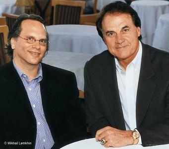 Bissinger and La Russa in happier times. - HMHBOOKS.COM