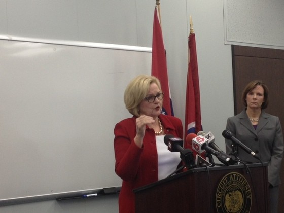 Claire McCaskill in St. Louis earlier this year. - SAM LEVIN