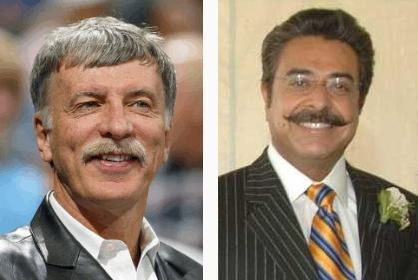 Stan Kroenke boasts that There Will Be Blood 'stache suggesting a shrewd business tycoon who you do not want to fuck over -- if you know what's good for you. Khan, meanwhile, sports a dashing, almost regal, mustache suggesting a fun-loving man who knows how play and work hard.