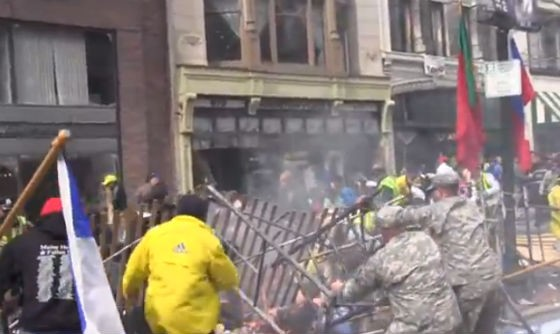 Footage of the immediate aftermath of the detonated bomb. - VIA YOUTUBE