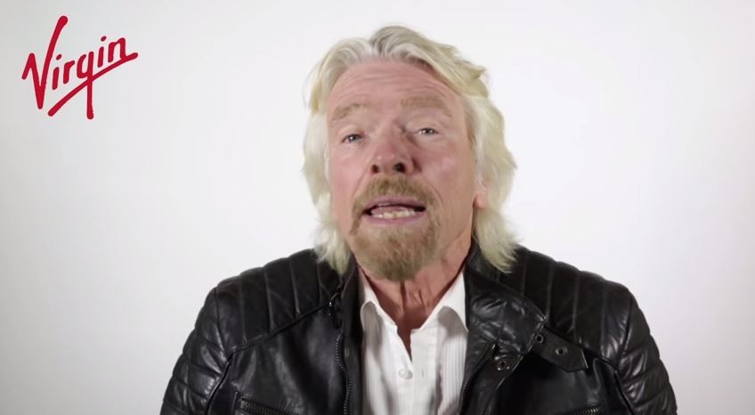 Richard Branson: Clearly enjoys a prank that also makes him more money. - YOUTUBE
