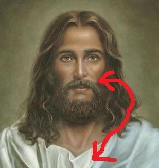 Jesus' mustache.