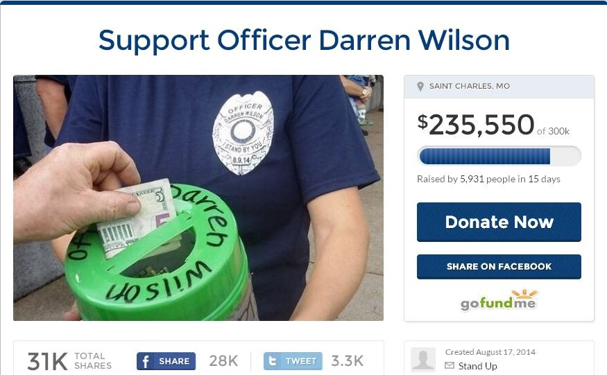 One of our most-read news stories from September was about the fundraisers for officer Darren Wilson.