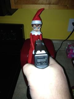 """An image posted to Bull's Eye shooting range's Facebook page (the only indoor shooting range in St. Louis City) on December 11. The caption read """"Anyone else have a problem with this guy breaking into their house?"""" - IMAGE VIA"""