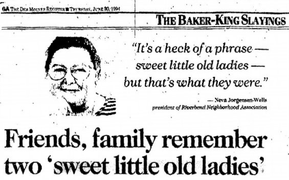 FROM JUNE 30, 1994, EDITION OF THE DES MOINES REGISTER.