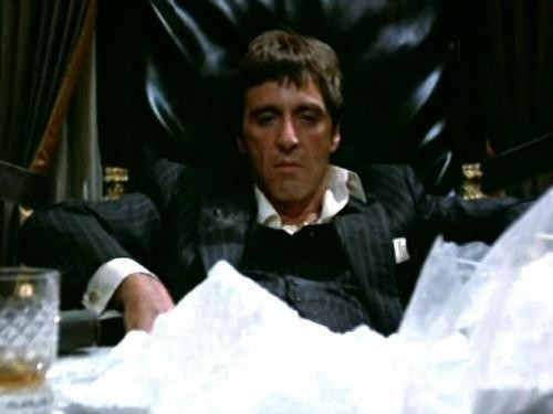 Q: What does Tony Montana call 65 kilos of cocaine? A: Breakfast.