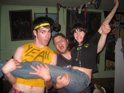 From Left to Right: Corey Goodman is Super Fun Yeah Yeah Rocketship, Ben Lerman and Erin Hagan.