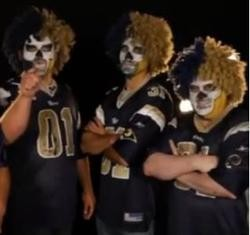 Creepy skullface Rams fan picture included for optimism.