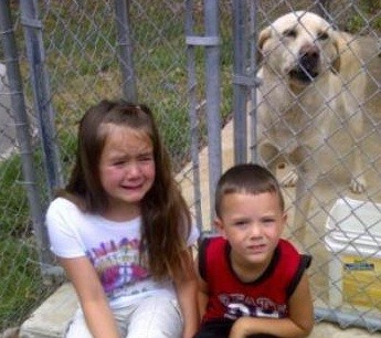 Lexi, age seven, saying goodbye to Phineas. - VIA