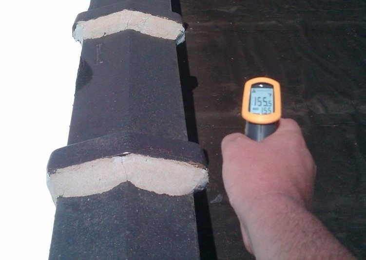 Hot black roof!