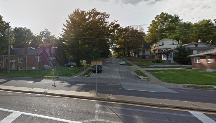 The 7400 block of Wayne Avenue near the intersection of North Hanley Road and Midland Boulevard. - GOOGLE MAPS