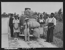 """""""LEAVING THE SOUTH,"""" BY JACK DELANO, BLACKHISTORYMUSEUM.ORG"""