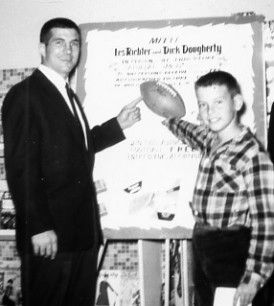 Les Richter, left, shown here in 1959. -