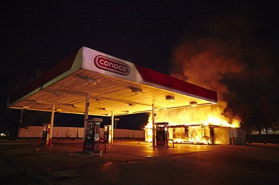The Conoco station.