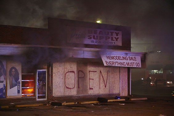 Fire starts at the beauty supply store.
