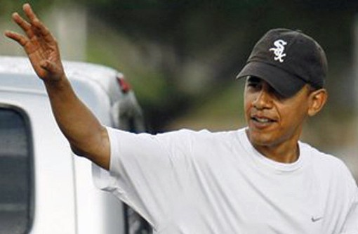 We know who President Obama will be pulling for -- the American League. - STRICTLYFITTEDS.COM