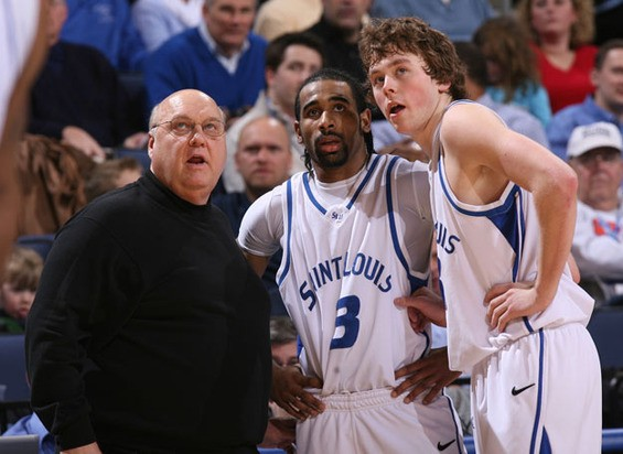 Rick Majerus, Kwamain Mitchell and Kyle Cassity have SLU's future looking up. - IMAGE VIA