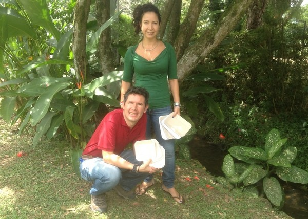 Andres Benavides and Claudia Isabel Barona, the founders of LIFEPACK. - LIFEPACK