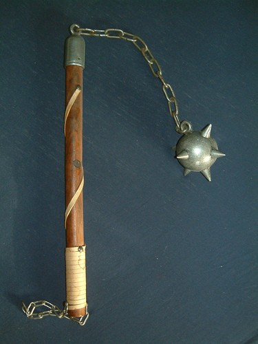 We don't know what Davis' medieval club looked like, but this is called a flail. - TIM BARTEL ON FLICKR