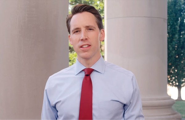 Josh Hawley's supporters now include a controversial political action committee based in North Carolina. - SCREENSHOT VIA YOUTUBE