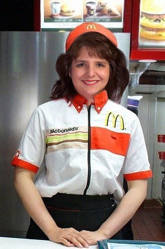 Cynthia D at Mickey D's. - PHOTOSHOPPED IMAGE VIA