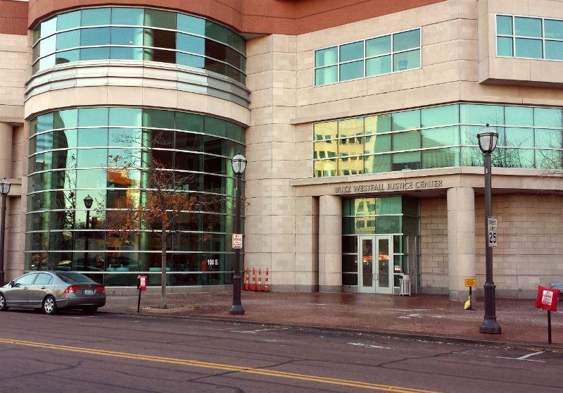The Buzz Westfall Justice Center in downtown Clayton. - JESSICA LUSSENHOP