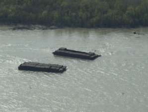 Barges on the loose! - COURTESY OF THE COAST GUARD
