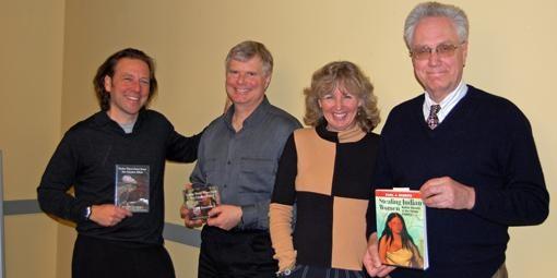 The folks behind Under These Same Stars: Streit, Dan Johnson, Molly Johnson and Ekberg.