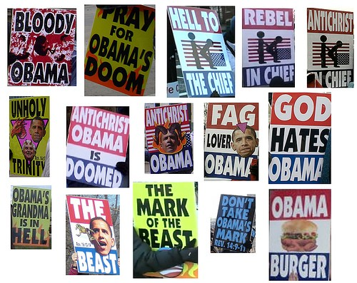 This is how Fred Phelps and Westboro feel about President Obama - IMAGE VIA
