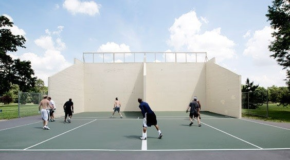 Jessica Lussenhop's story of the former inmates and competitive handballers who play in Forest Park took first place for sports features. - JENNIFER SILVERBERG