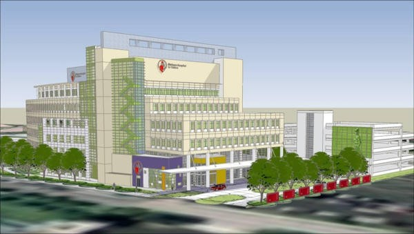 An artist rendering of the new Shriner's Hospital for Children, if it ever gets constructed. - IMAGE SOURCE