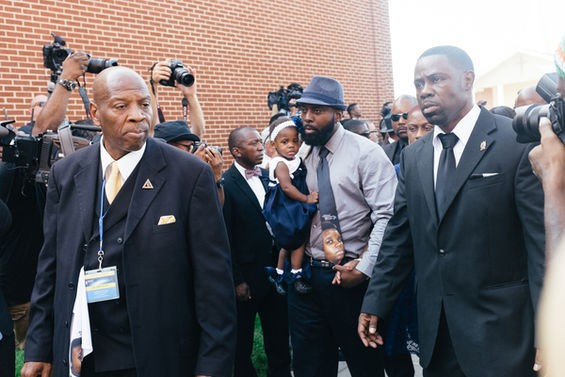 Michael Brown Sr. arrives to his son's funeral. - BRYAN SUTTER