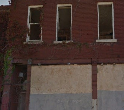Vacant building, north St. Louis. - VIA GOOGLE MAPS