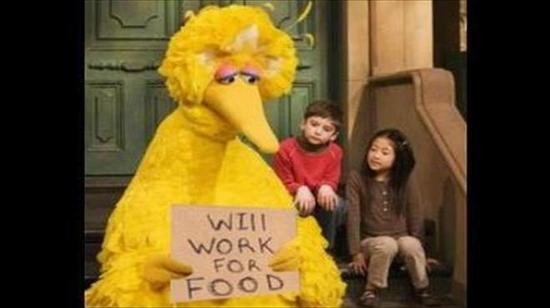 The Cardinals' weird cousin Big Bird is also a little down on his luck. - SESAME STREET