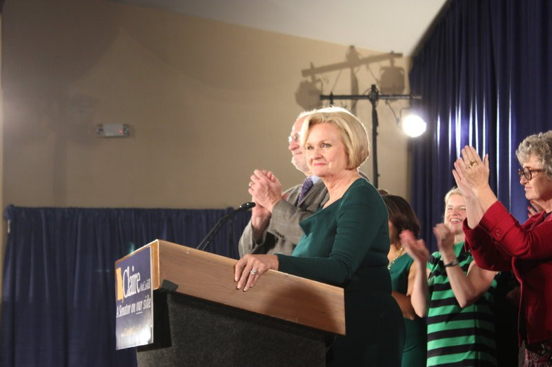 "McCaskill vowed to return to the Senate ""first as a Missourian"". - LEAH GREENBAUM"
