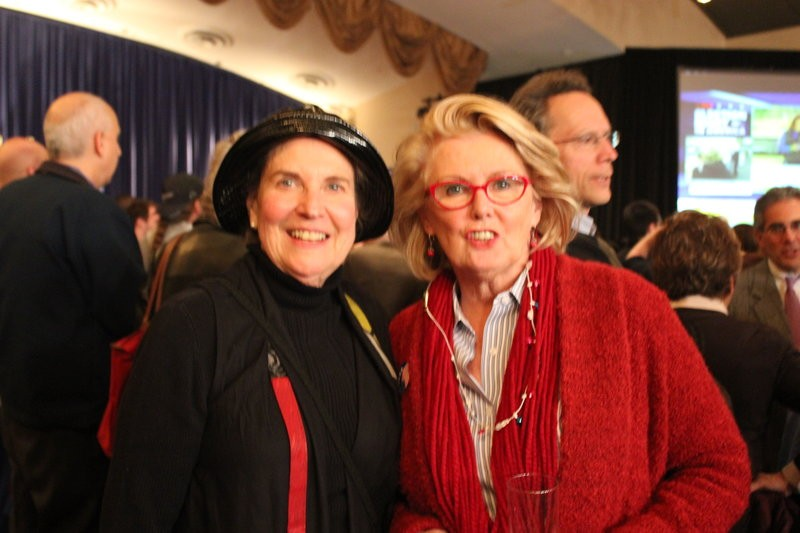 McCaskill's doppleganger with friend Nancy Kennedy, left. - LEAH GREENBAUM