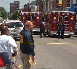 Cherokee Street shooting. - VIA TWITTER