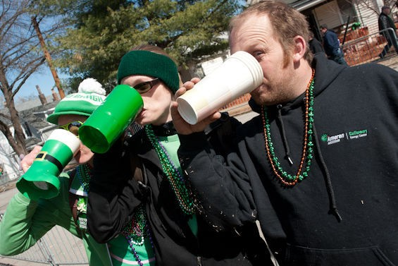 And this is how you celebrate St. Patrick's Day.