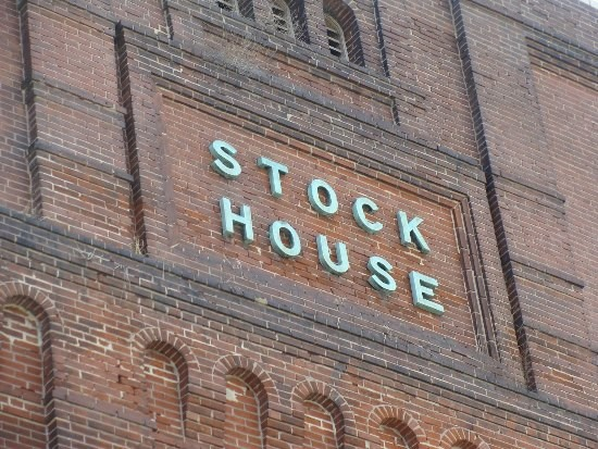 The still existing Stock House sign at Plant No. 10.