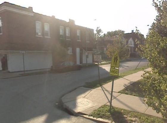 The 4400 block of Farlin as viewed from Newstead Avenue.