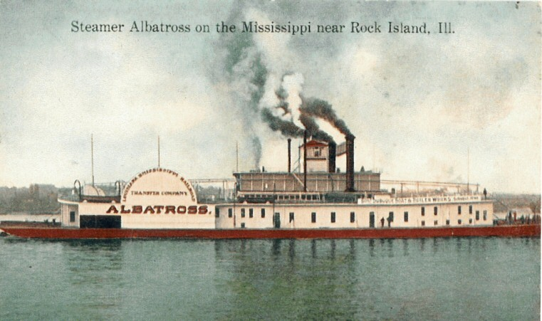 """A postcard of the """"Albatross"""" that became the """"Admiral"""". - WWW.USGENNET.ORG/USA/MO/COUNTY/STLOUIS/ADMIRAL.HTM"""