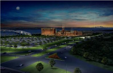 A rendering of Casino Celebration at I-270 and Riverview.