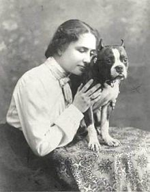 Helen Keller owned a pitbull named Sir Thomas. - WIKIMEDIA COMMONS