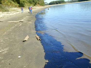 Oil pipeline leak in the Mississippi River north of St. Louis. - MISSOURI DEPARTMENT OF NATURAL RESOURCES