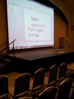 A Nazi message left in a SLU ballroom. - COURTESY OF RYAN MCKINLEY