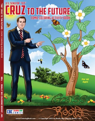 Color Ted holding a shotgun or giving a speech against Obamacare. - REALLY BIG COLORING BOOKS, INC.