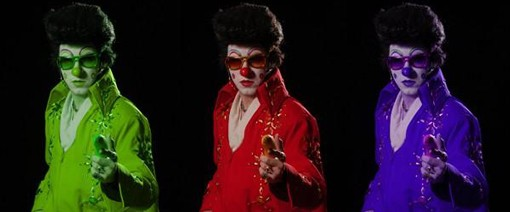 Clownvis -- there's just one of him -- debuts a new freakish show on Saturday night at Atomic Cowboy.