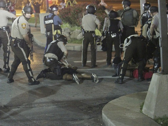 Arrests that were made in Ferguson on August 18. - DANNY WICENTOWSKI